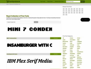 fontpalace.com screenshot