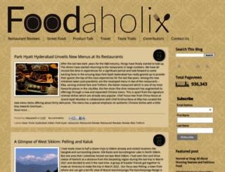 foodaholix.in screenshot