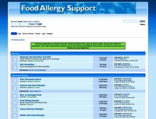 foodallergysupport.com screenshot