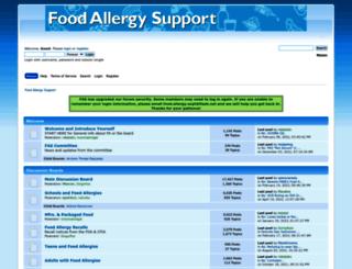 foodallergysupport.olicentral.com screenshot