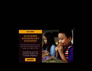foodbankrockies.org screenshot