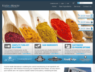 foodforhealthinternational.com screenshot