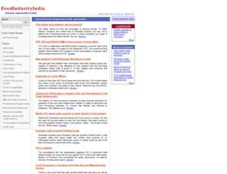 foodindustryindia.com screenshot