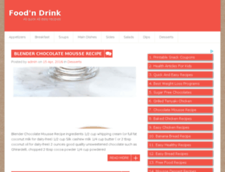 foodndrinkrecipes.com screenshot