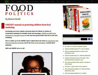 foodpolitics.com screenshot
