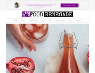 foodrenegade.com screenshot