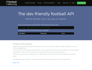 football-data.org screenshot