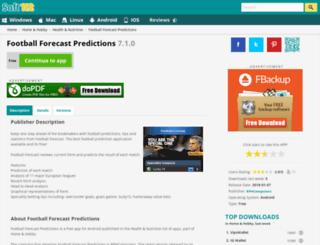 football-forecast.soft112.com screenshot