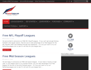 football8.myfantasyleague.com screenshot
