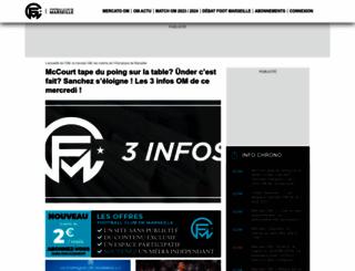 footballclubdemarseille.fr screenshot