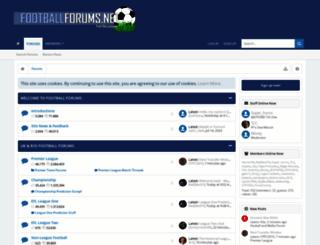 footballforums.net screenshot