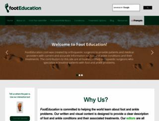 footeducation.com screenshot