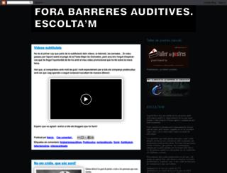 forabarreresauditives.blogspot.com screenshot