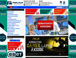 foramax.hu screenshot
