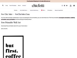 forchicsake.com screenshot