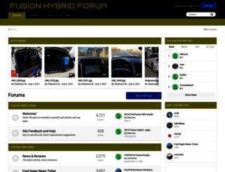 fordfusionhybridforum.com screenshot
