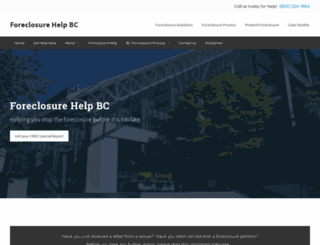 foreclosurehelpbc.com screenshot