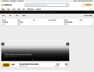 foreks.com screenshot