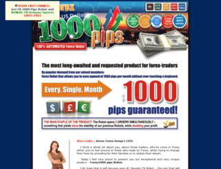 forex1000pips.com screenshot