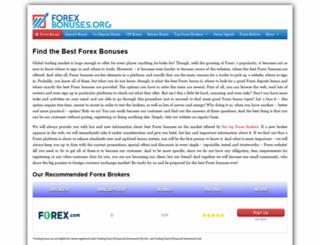 forexbonuses.org screenshot