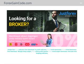 forexgaincode.com screenshot