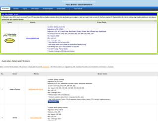 forexmetatraderbrokers.com screenshot
