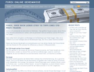 forexonlinegeheimnisse.com screenshot
