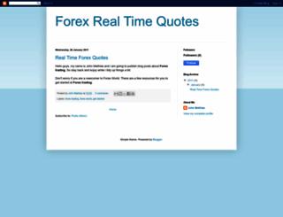 forexrealtimequotes.blogspot.com screenshot
