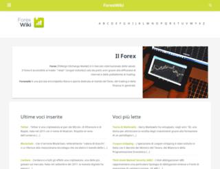 forexwiki.it screenshot