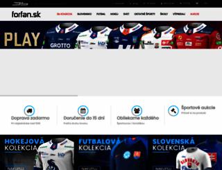 forfan.sk screenshot