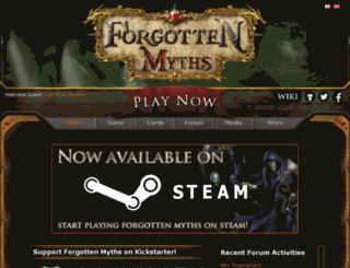 forgottenmyths.com screenshot