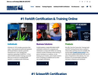 forkliftacademy.com screenshot