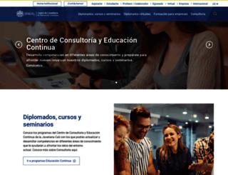 formacioncontinua.javerianacali.edu.co screenshot
