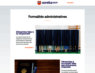 formalites-administratives.comprendrechoisir.com screenshot