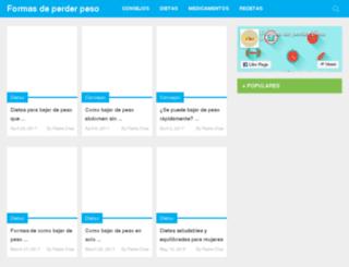 formasdeperderpeso.com screenshot