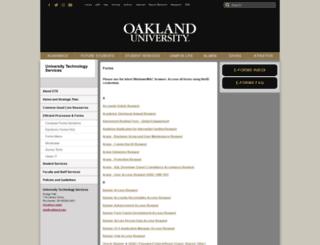 forms.oakland.edu screenshot