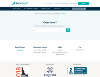 forms.petsbest.com screenshot