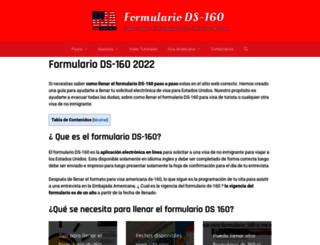 formulariods160.info screenshot