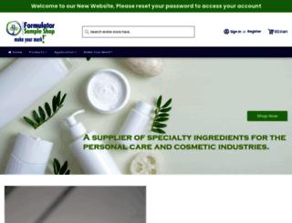 formulatorsampleshop.com screenshot