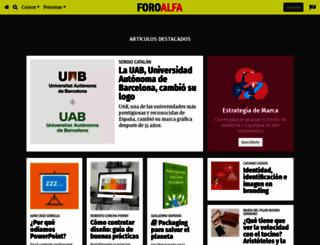 foroalfa.org screenshot