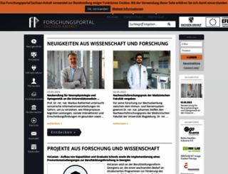forschung-sachsen-anhalt.de screenshot