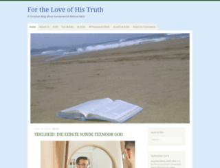 fortheloveofhistruth.com screenshot