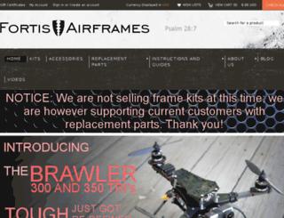 fortisairframes.com screenshot