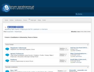forum-zarabianie.pl screenshot