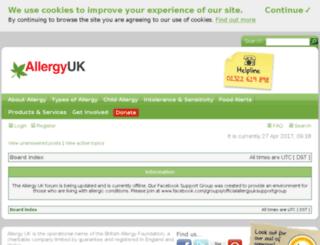 forum.allergyuk.org screenshot