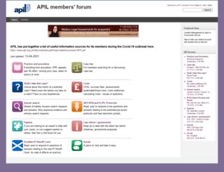 forum.apil.org.uk screenshot