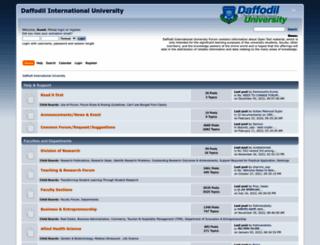 forum.daffodilvarsity.edu.bd screenshot