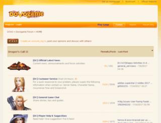 forum.dovogame.com screenshot
