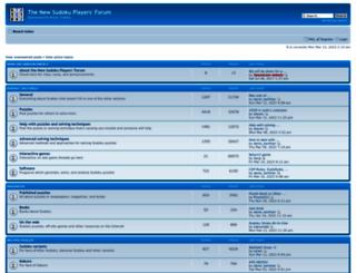 forum.enjoysudoku.com screenshot