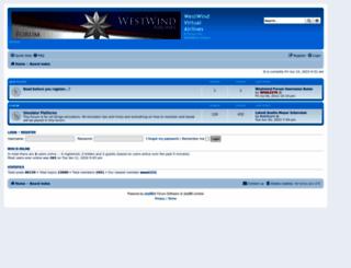 forum.flywestwind.org screenshot